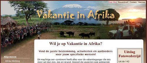 Vakantie in Afrika Header